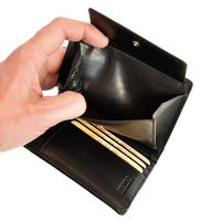 Branco – Large wallet / elegant purse size L for women made out of leather, black, model 22369-4