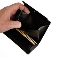 Branco – Large wallet / elegant purse size L for women made out of leather, black, model 22369-5