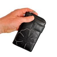 Branco - Leather, Ladies Wallet, Coin Wallet, Credit Card Holder, Model-22373, Black