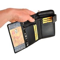 Branco – Large wallet / elegant purse size L for women made out of leather, black, model 22373-4