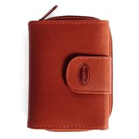 Branco – Small wallet / purse size S for women made out of leather, brown, model 225
