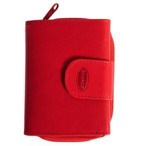 Branco, 225 - Kleine Geldbörse bzw. kleines Portemonnaie für Damen aus Leder in rot, Frontansicht - 01