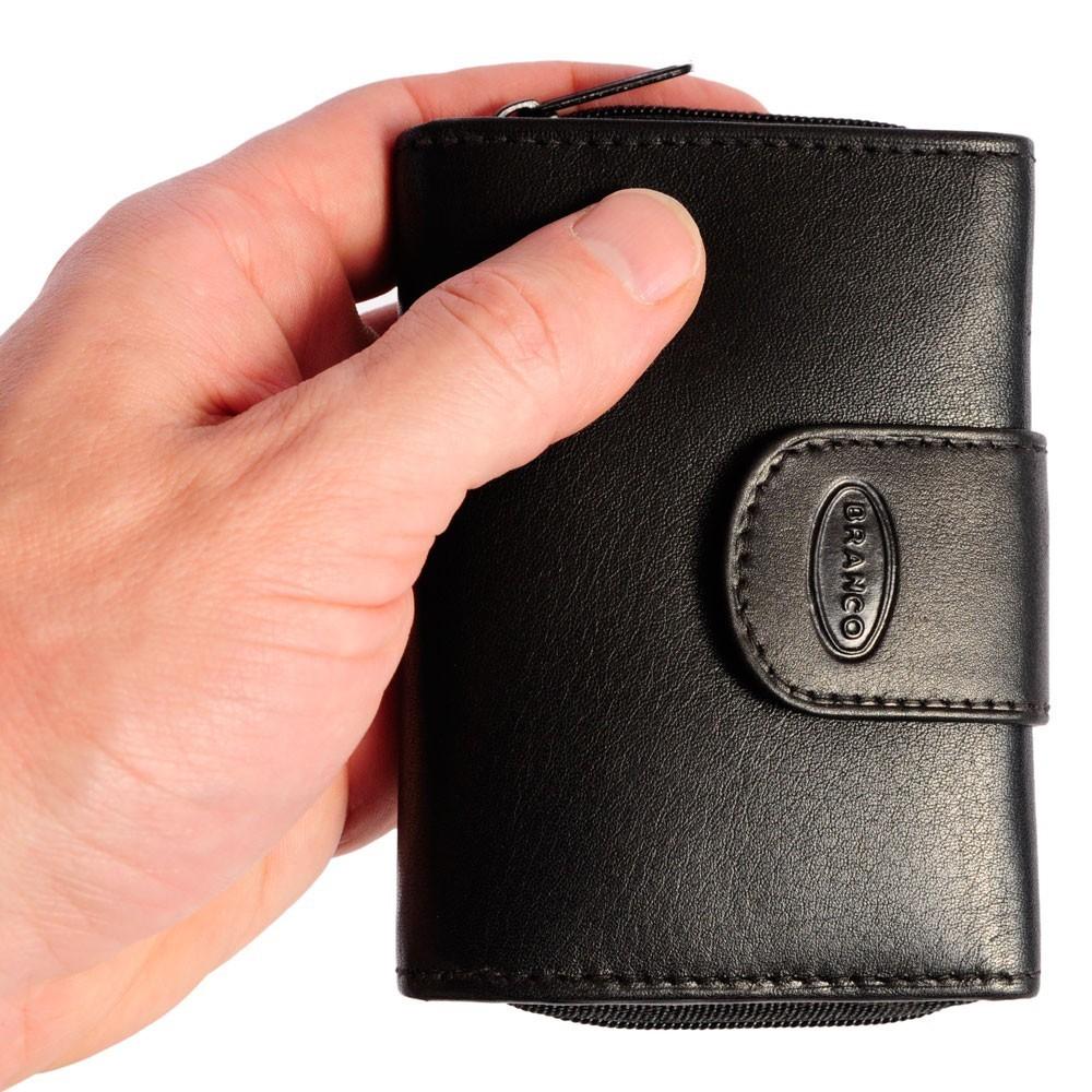 f8d790e05e6eba Branco, 225 - Kleine Geldbörse bzw. kleines Portemonnaie für Damen aus Leder  in schwarz ...