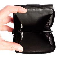 Branco – Kleine Geldbörse / Portemonnaie Größe S für Damen aus Leder, Schwarz, Modell 225