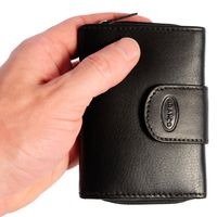 Branco – Small wallet / purse size S for women made out of leather, black, model 225