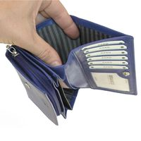 Branco – Large wallet / purse size L for women, made out of leather, royal blue, model 265-3
