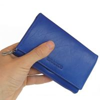 Branco – Large wallet / purse size L for women, made out of leather, royal blue, model 265