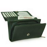 Branco, 265 - Mittelgroße Geldbörse bzw. mittelgroßes Portemonnaie für Damen aus Leder in grün, Detailansicht Münzfach - 07
