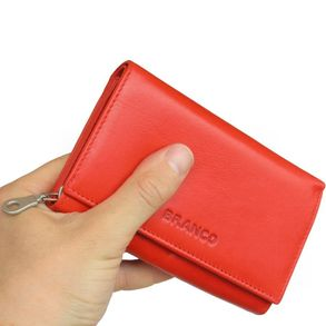 Branco - Leather Ladies Wallet, Coin Purse, Wallet Women, Model-265 Red