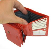 Branco – Large wallet / purse size L for women, made out of leather, red, model 265-3