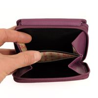 Branco – Large wallet / elegant purse size L for women made out of leather, purple berry, model 29742-4