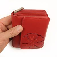 Branco – Large wallet / elegant purse size L for women made out of leather, red model 29742-2