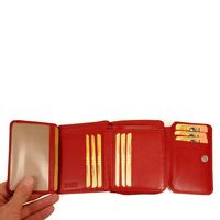 Branco – Large wallet / elegant purse size L for women made out of leather, red model 29742-3