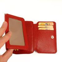 Branco – Große Geldbörse / Elegantes Portemonnaie Größe L für Damen aus Leder, Rot, Modell 29742