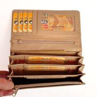 Branco, 29918 - Beiges XL Portmonee bzw. Kellnerbörse für Damen, Innenansicht mit Fächeraufteilung - 02