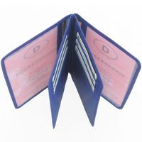 Branco – A7 case / cover / holder e.g. for ID, vehicle registration, driver's license and credit cards, leather, royal blue, model br-302-2
