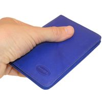 Branco – A7 case / cover / holder e.g. for ID, vehicle registration, driver's license and credit cards, leather, royal blue, model br-302