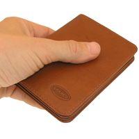 Branco – A7 Hülle / Etui / Mappe z.B. für Ausweis, Fahrzeugschein, Führerschein und Kredit-Karten, Leder, Braun, Modell br-302