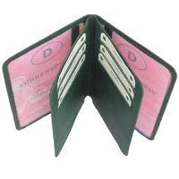Branco, br-302 - A7 Ausweishülle bzw. Kreditkartenetui aus Leder in grün, Aufsicht aufgeklappt - 05