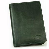 Branco, br-302 - A7 Ausweishülle bzw. Kreditkartenetui aus Leder in grün, Frontansicht - 02
