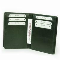 Branco, br-302 - A7 Ausweishülle bzw. Kreditkartenetui aus Leder in grün, Detailansicht Kartenfächer - 03