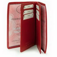 Branco – A7 case / cover / holder e.g. for ID, vehicle registration, driver's license and credit cards, leather, red, model br-302
