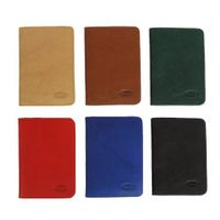 Branco – A7 case / cover / holder e.g. for ID, vehicle registration, driver's license and credit cards, leather, red, model br-302-7