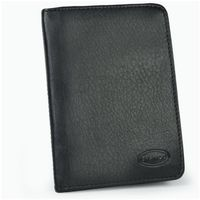 Branco – A7 case / cover / holder e.g. for ID, vehicle registration, driver's license and credit cards, leather, black, model br-302-2