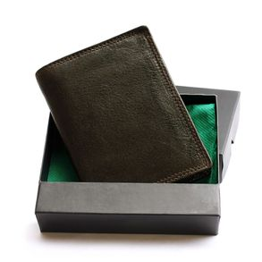 Hamosons – Large wallet / billfold size L for men, made out of leather, upright format, brown, model 106