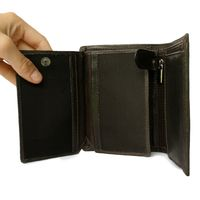 Hamosons - Leather Wallet for men, Model-106 Brown