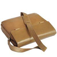 Branco, br170  - Elegante, cognac-braune Laptoptasche bzw. Notebooktasche, Aufsicht, Tasche liegend - 02
