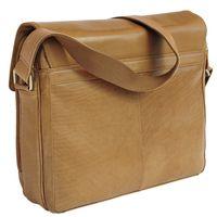 Branco, br170  - Elegante, cognac-braune Laptoptasche bzw. Notebooktasche, Rückansicht - 03