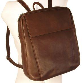 Branco, br171 - Eleganter, brauner Lederrucksack bzw. Laptop Rucksack, Seitenansicht - 01