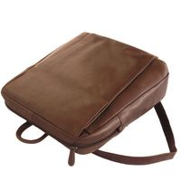 Branco – Elegant leather backpack size M / laptop backpack up to 14 inches, brown, model br171