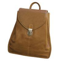 Branco br96 - Kleiner, cognacbrauner Lederrucksack bzw. Rucksackhandtasche, Frontansicht - 02