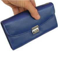 Hamosons – Professional waiter's wallet / waiter's purse made out of Nappa leather, royal blue, model 1015
