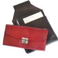 Hamosons, 1015 - Rote Profi Kellnerbörse bzw. Kellnertasche, Frontansicht zusammen mit passendem Kellnerholster - 04