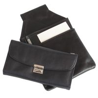 Hamosons – Professional waiter's wallet / waiter's purse made out of Nappa leather, black, model 1015