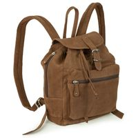 Hamosons – Small leather backpack / city bag size S made out of buffalo leather, brown, model 511