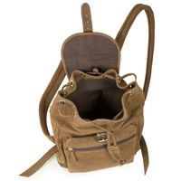 Hamosons – Small leather backpack / city bag size S made out of buffalo leather, brown, model 511-4