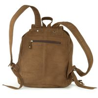 Hamosons – Medium sized leather backpack / city bag size M made out of buffalo leather, brown, model 512-8