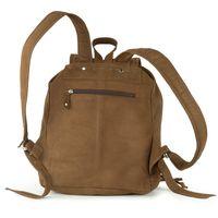 Hamosons – sac à dos de ville taille moyenne / sac à dos city taille M en cuir de buffle, marron, modèle 512