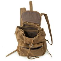 Hamosons – Medium sized leather backpack / city bag size M made out of buffalo leather, brown, model 512-6