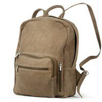 Hamosons – Großer Lederrucksack Größe L / Laptop-Rucksack bis 15,6 Zoll, aus Büffel-Leder, Beige-Braun, Modell 513