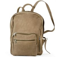 Hamosons – Large leather backpack size L / laptop backpack up to 15.6 inches, made out of buffalo leather, tan, model 513-2