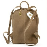 Hamosons – Large leather backpack size L / laptop backpack up to 15.6 inches, made out of buffalo leather, tan, model 513-5