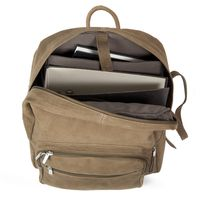 Hamosons – Large leather backpack size L / laptop backpack up to 15.6 inches, made out of buffalo leather, tan, model 513-4