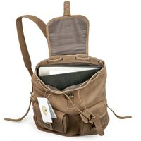 Hamosons – Medium sized leather backpack / city bag size M made out of buffalo leather, tan, model 559-3