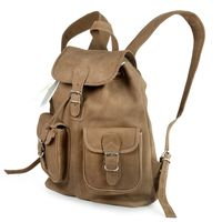 Hamosons – Medium sized leather backpack / city bag size M made out of buffalo leather, tan, model 559-5