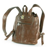 Hamosons – Medium sized leather backpack / city bag size M made out of oiled leather, chestnut brown, model 559-3